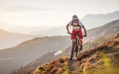 Das Mountainbike steht bereit